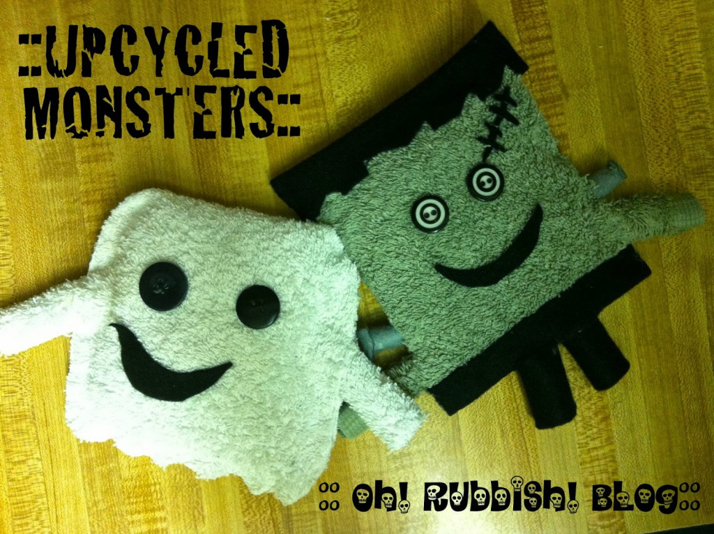 Upcycled Monsters by oh! rubbish! blog
