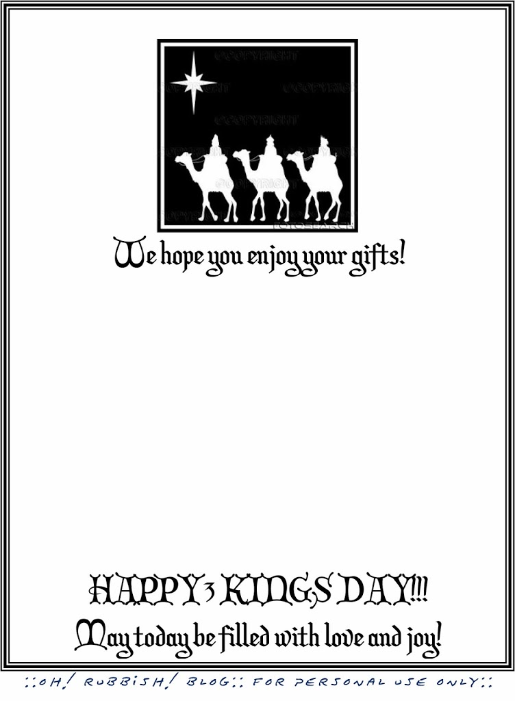 3 Kings Holiday Printable Letter :: Reyes Magos Letter ...