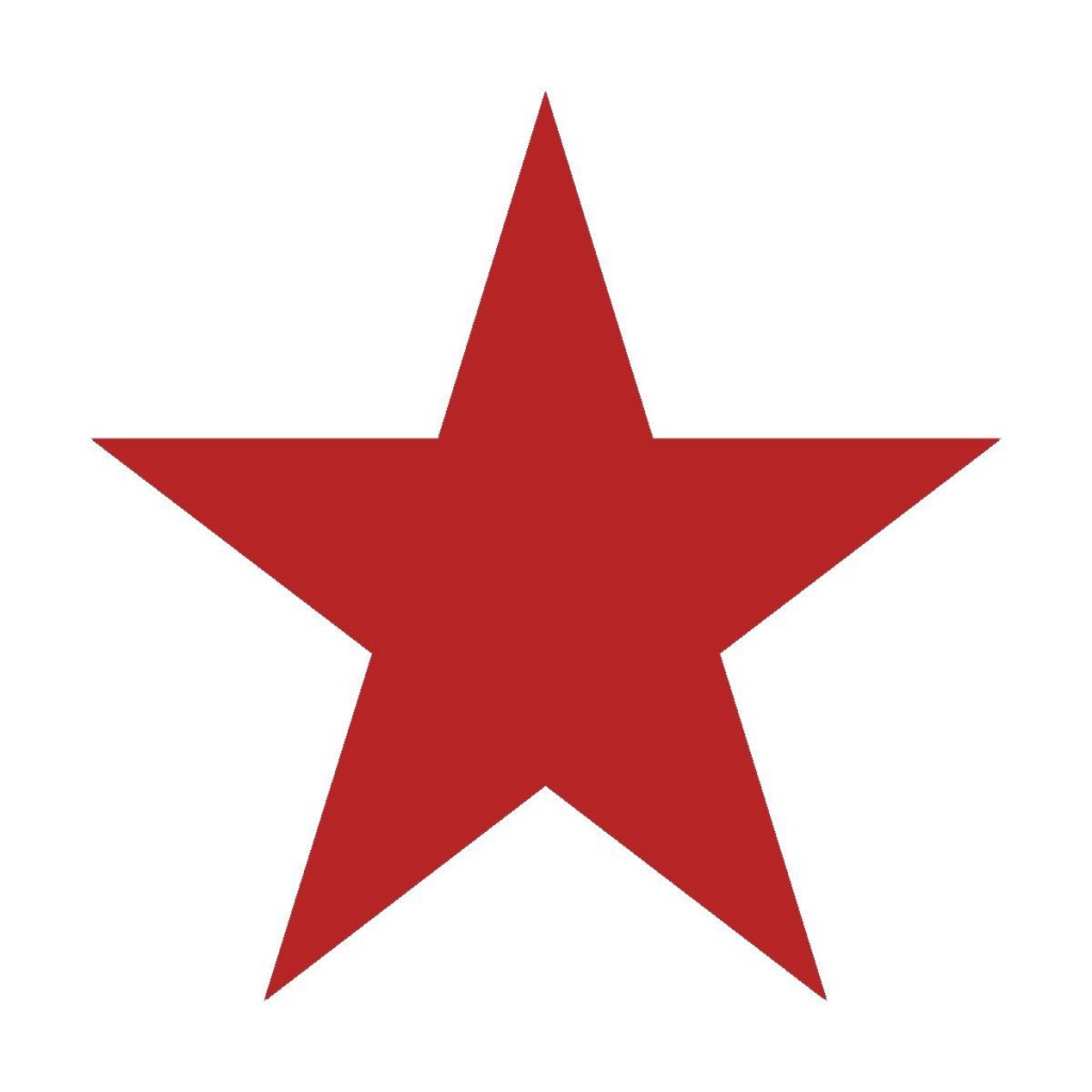 red star printable