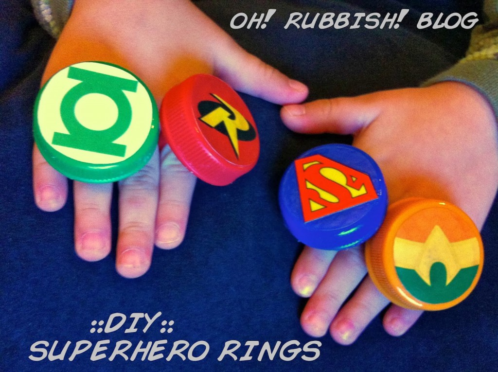 Super Power Super Hero Rings by oh! rubbish! blog