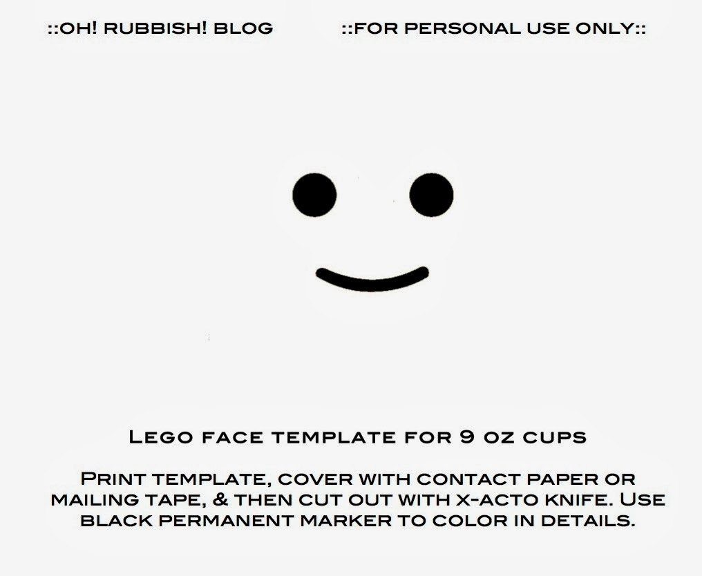 photograph about Lego Face Printable titled Lego Birthday Templates :: Lego Birthday Plates :: Lego