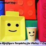 Lego Minifigure Templates for Plates and Cups