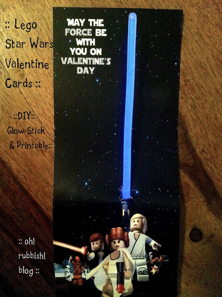 Star Wars Happy Valentine Day DIY Glow Stick Printable – Star Wars Valentines Day Cards