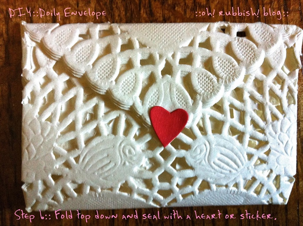 Diy Heart Doily Crafts Turn A Heart Into An Envelope
