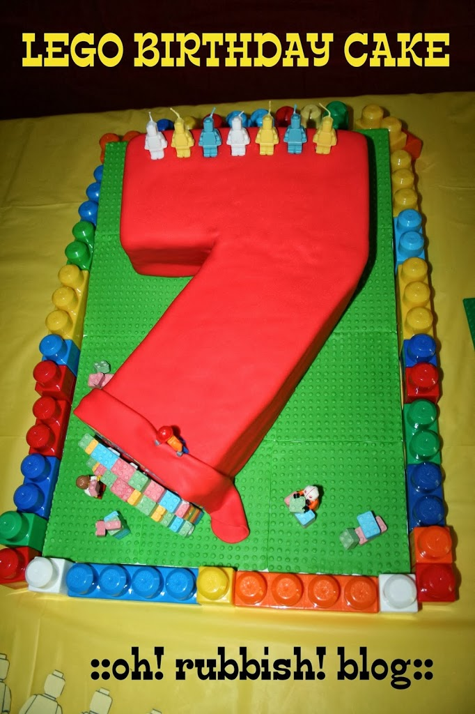 LEGO Birthday Cakes Boys Make Lego Cake Numbered