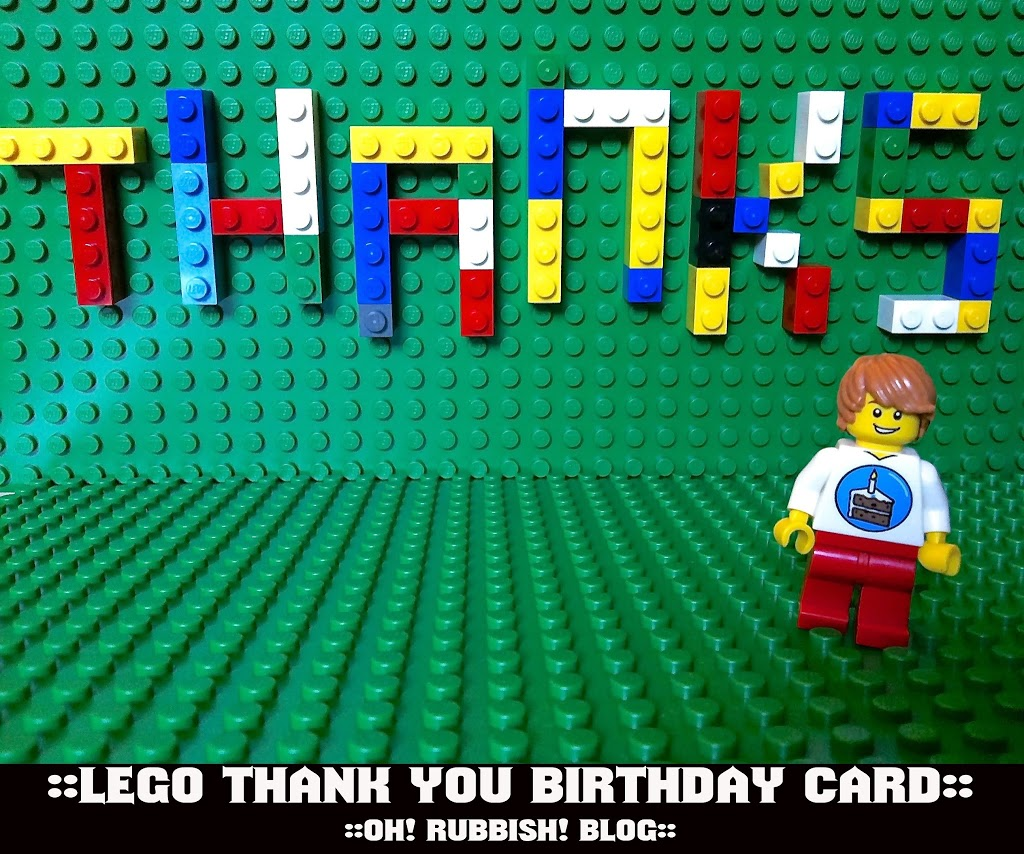 photo regarding Lego Birthday Card Printable referred to as Lego Thank By yourself Card :: No cost Lego Get together Printables