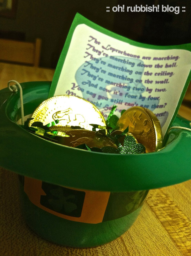 St Patrick's Leprechaun Scavenger Hunt by oh rubbish blog