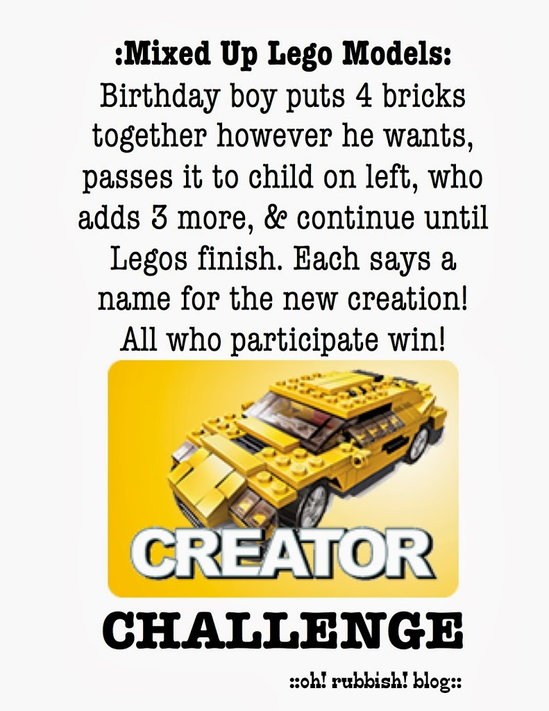 Lego Themed Birthday Party Games Free Lego Party