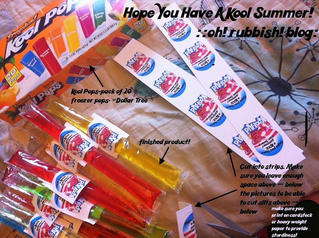 Hope you have a Kool Summer! Kool Pops freezer pops and printables!