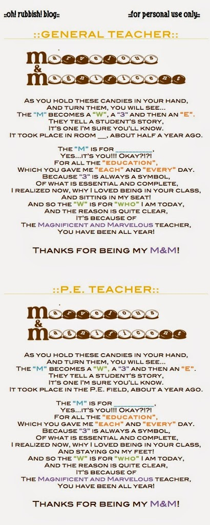 general teacher p.e. teacher poems