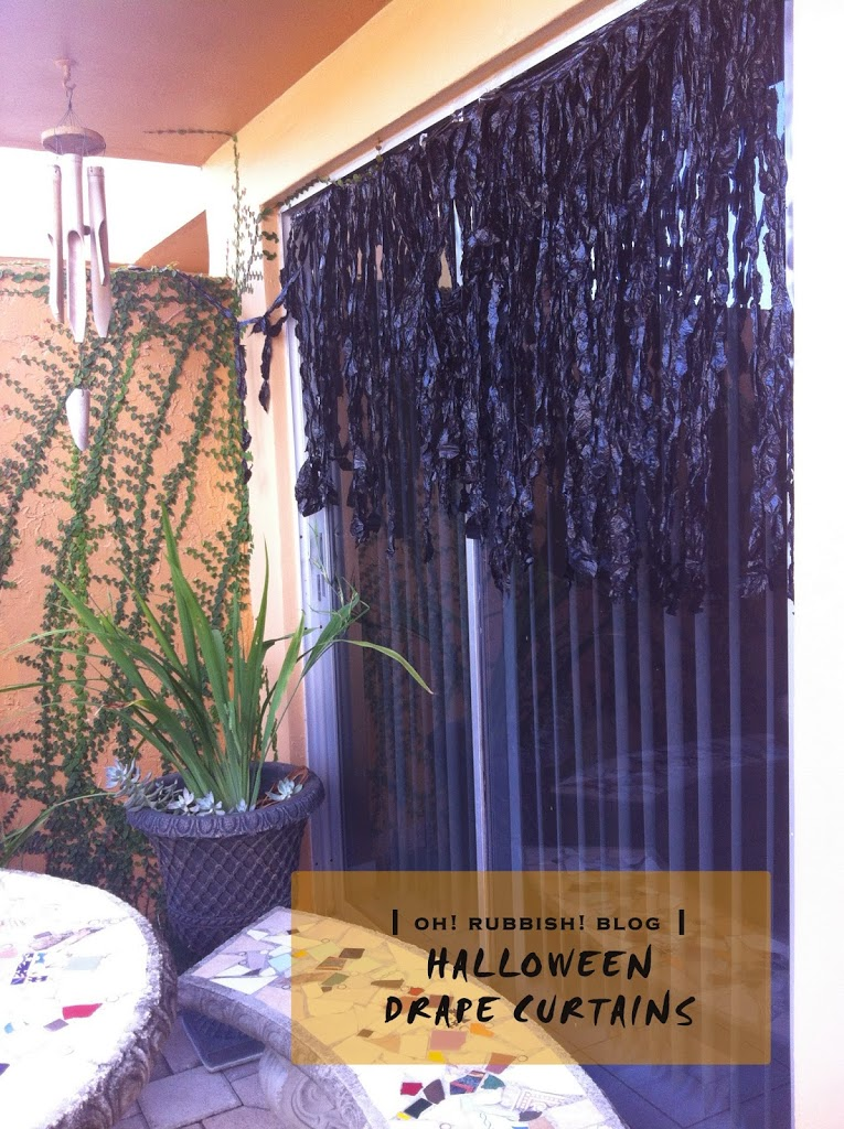 Creepy halloween drape curtains unique halloween for Unique outdoor halloween decorations