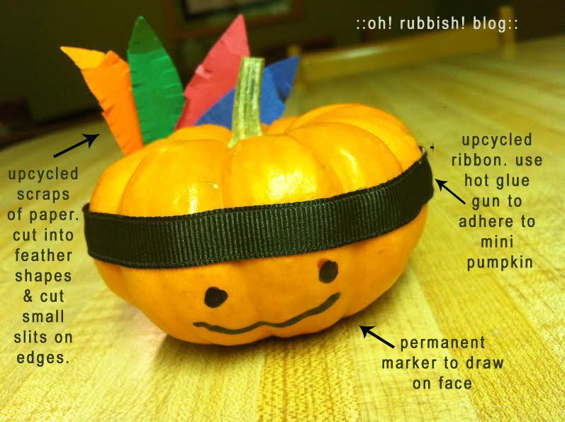 Mini Pumpkin Thanksgiving Indian