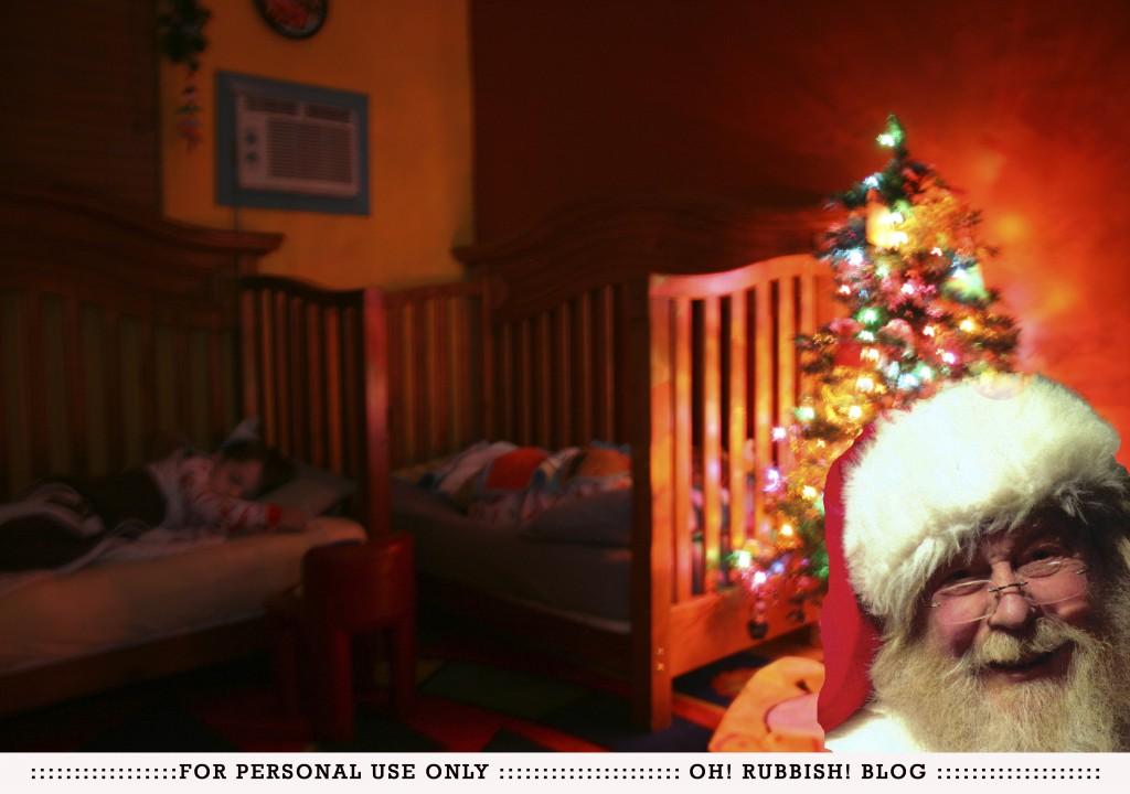 Caught Santa!!! DIY by oh! rubbish! blog