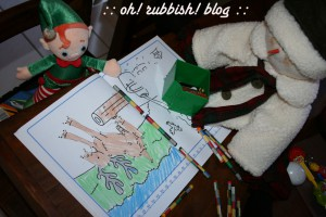Elf on the Shelf Mischief. oh rubbish blog1