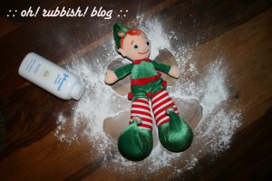 Elf on the Shelf Mischief. oh rubbish blog17