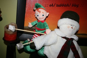 Elf on the Shelf Mischief. oh rubbish blog18