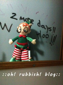 Elf on the Shelf- oh rubbish blog 23