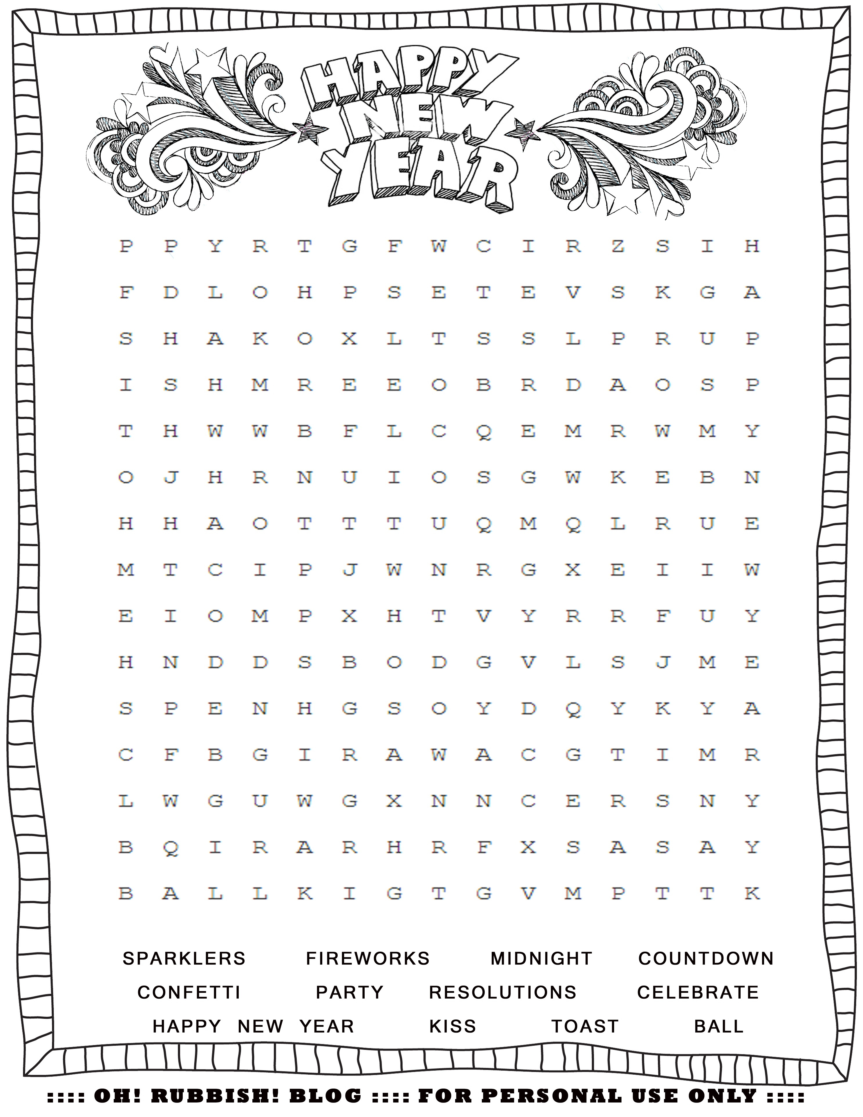 New Year's Printable Activities :: Entertain your kids with 4 New ...