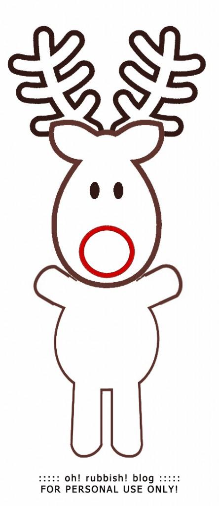 Vector Illustration Face Rudolf Red Nosed Stock Vector ... |Rudolf Reindeer Outline