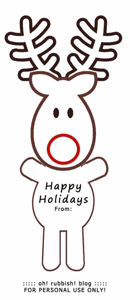 Rudolph lollipop best homemade kids christmas party favors rudolph reindeer template by oh rubbish blog maxwellsz