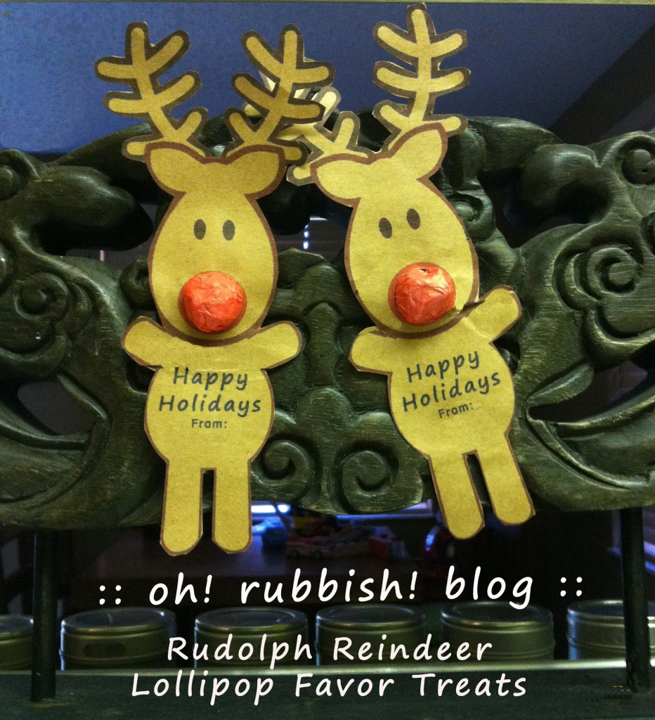 Rudolph Reindeer Lollipops by: oh! rubbish! blog