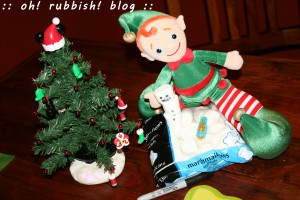 elf on the shelf. oh rubbish blog 2