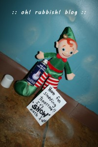 elf on the shelf. oh rubbish blog 20