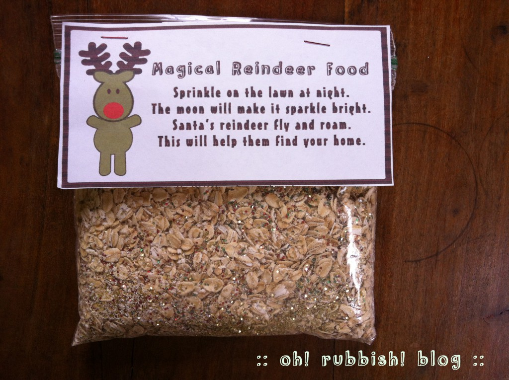 magic reindeer food by oh! rubbish! blog