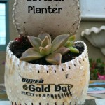 DIY: SOFTBALL PLANTER by oh! rubbish! blog