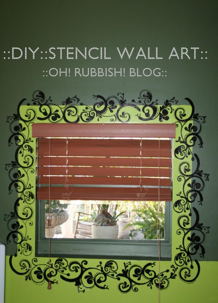 DIY Stencil Wall Art by oh! rubbish! blog