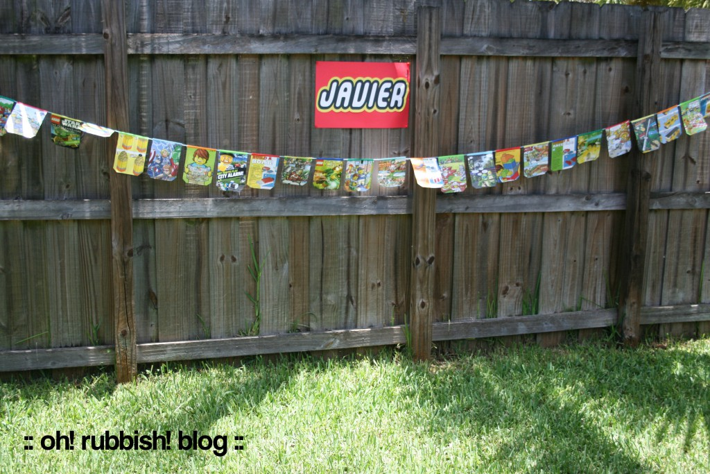 Upcycled Comic Banner by oh! rubbish! blog