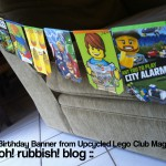 Upcycled Comic Banner by oh! rubbish! blog3