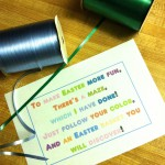 Easter Bunny Colored String Maze by oh rubbish blog