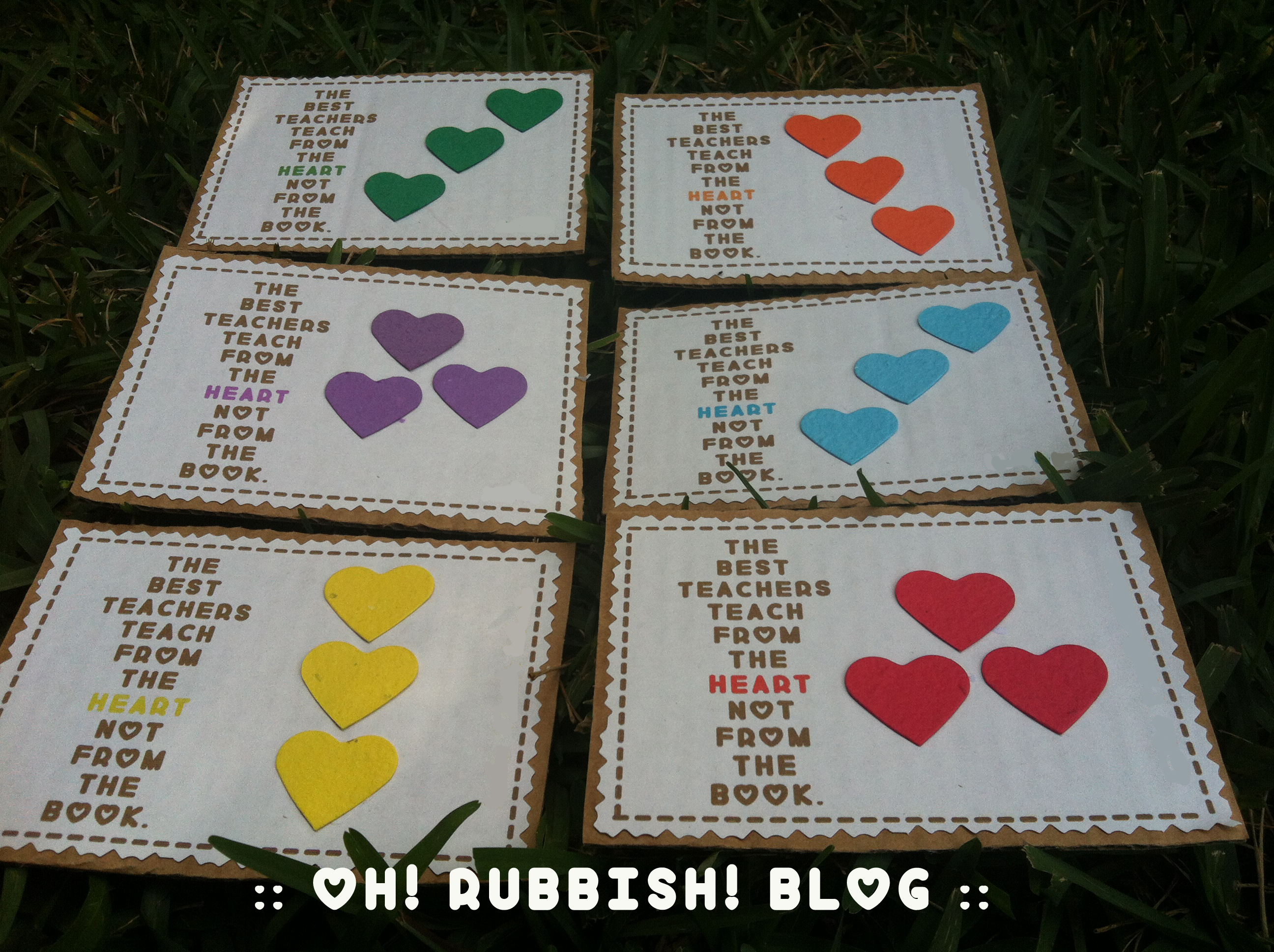 The Best Teachers Plantable Hearts By Oh Rubbish Blog