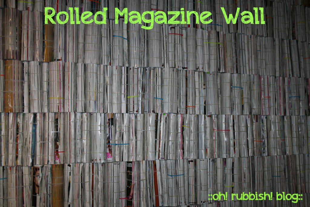 UPCYCLED MAGAZINE WALL by oh rubbish blog