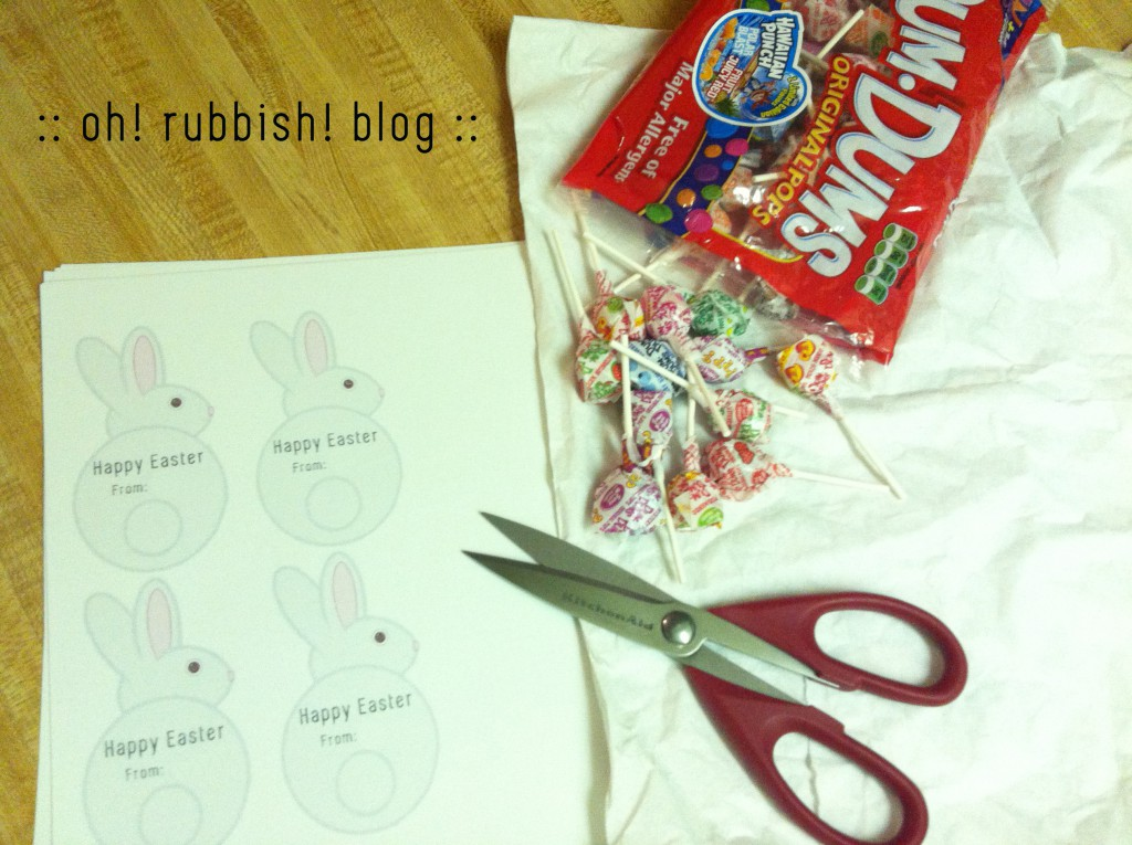 Easter Bunny Lollipop Tails by oh rubbish blog