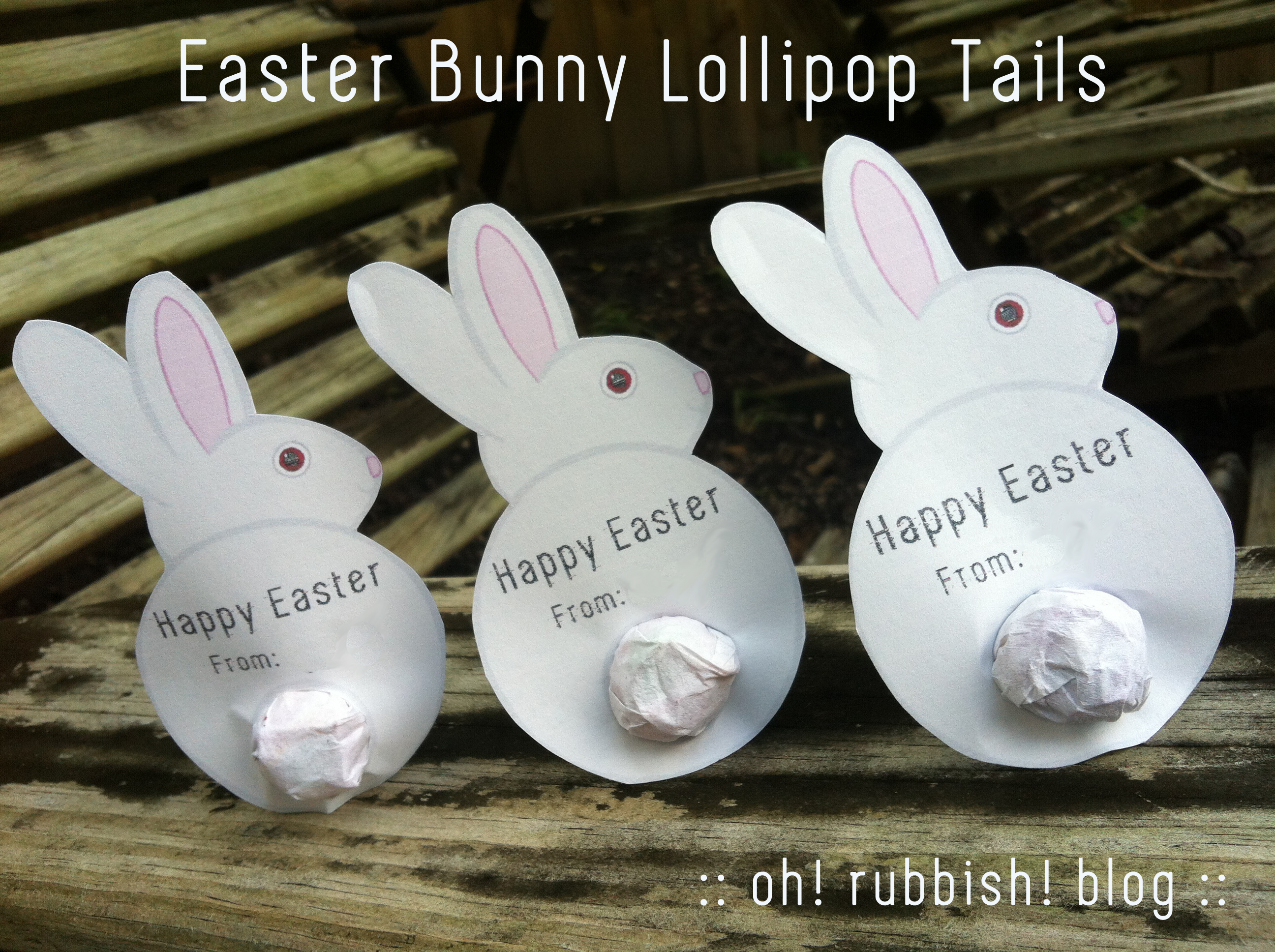 Easter Bunny Lollipop Tails :: Bunny Tails Free Printable :: Easter ...
