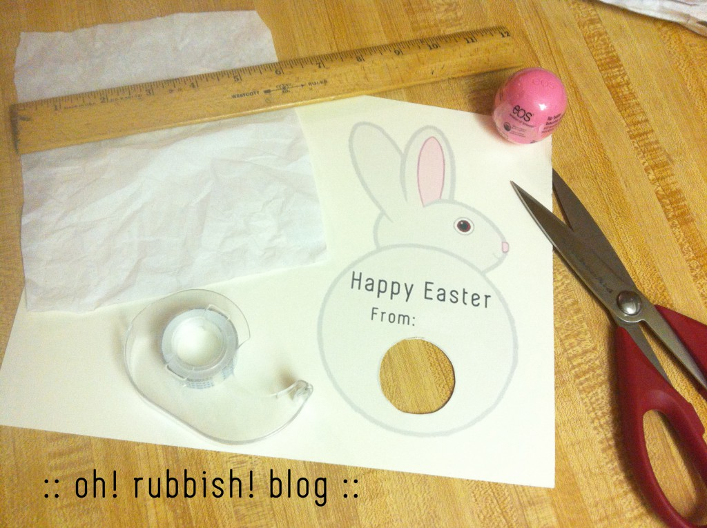 Easter Bunny Lip Balm Tails by oh rubbish blog