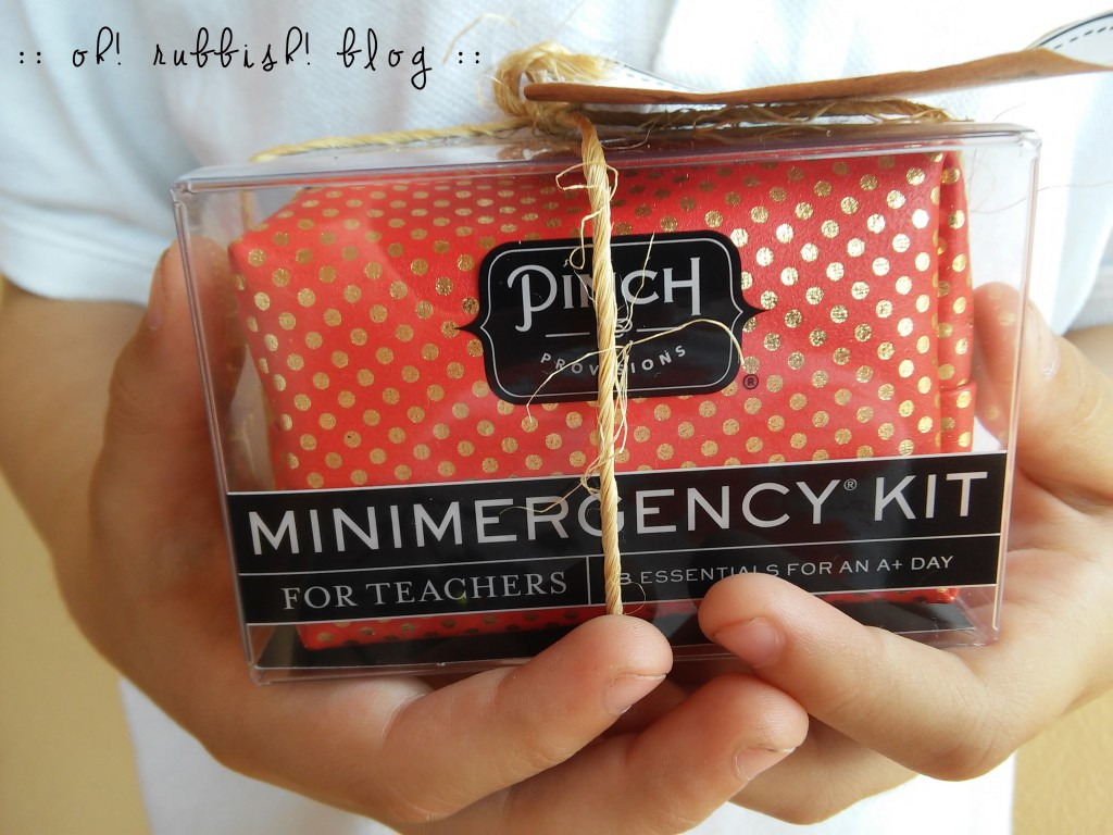Happy Teacher Appreciation Day Emergency Kit and Printable by oh! rubbish! blog