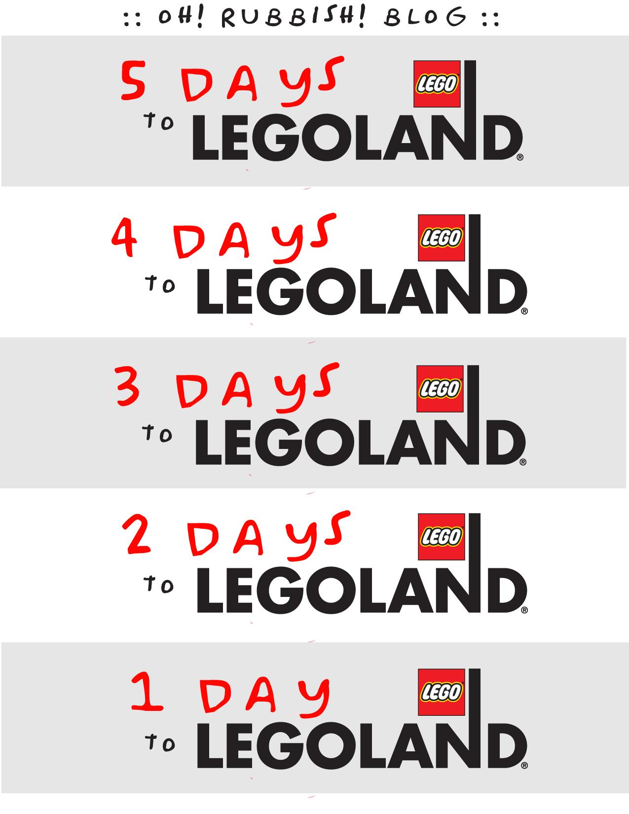 Legoland Countdown :: Legoland Vacation Countdown Printable :: -