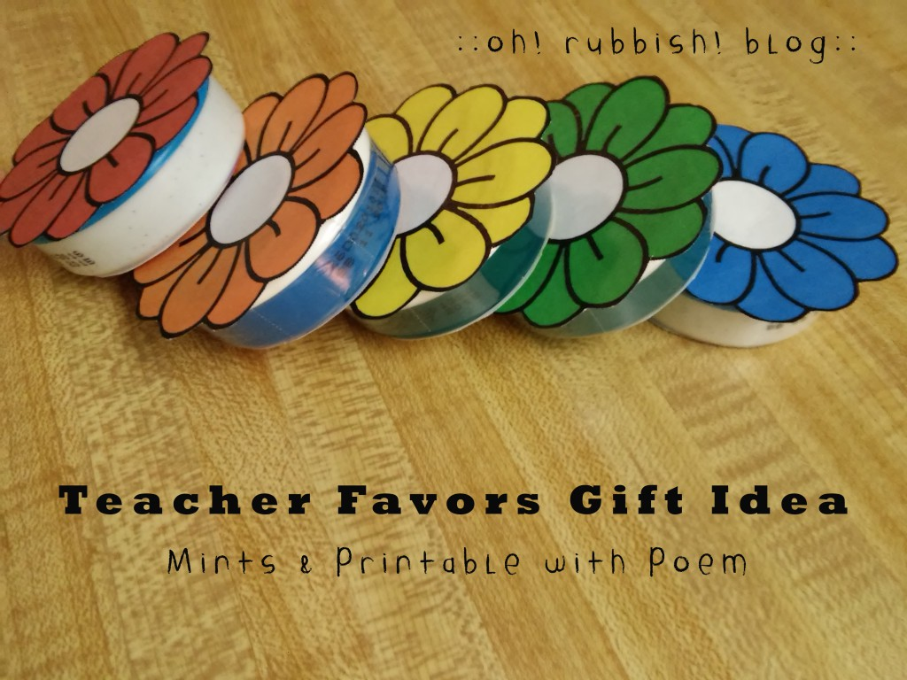 Teacher Favors Mint Flowers