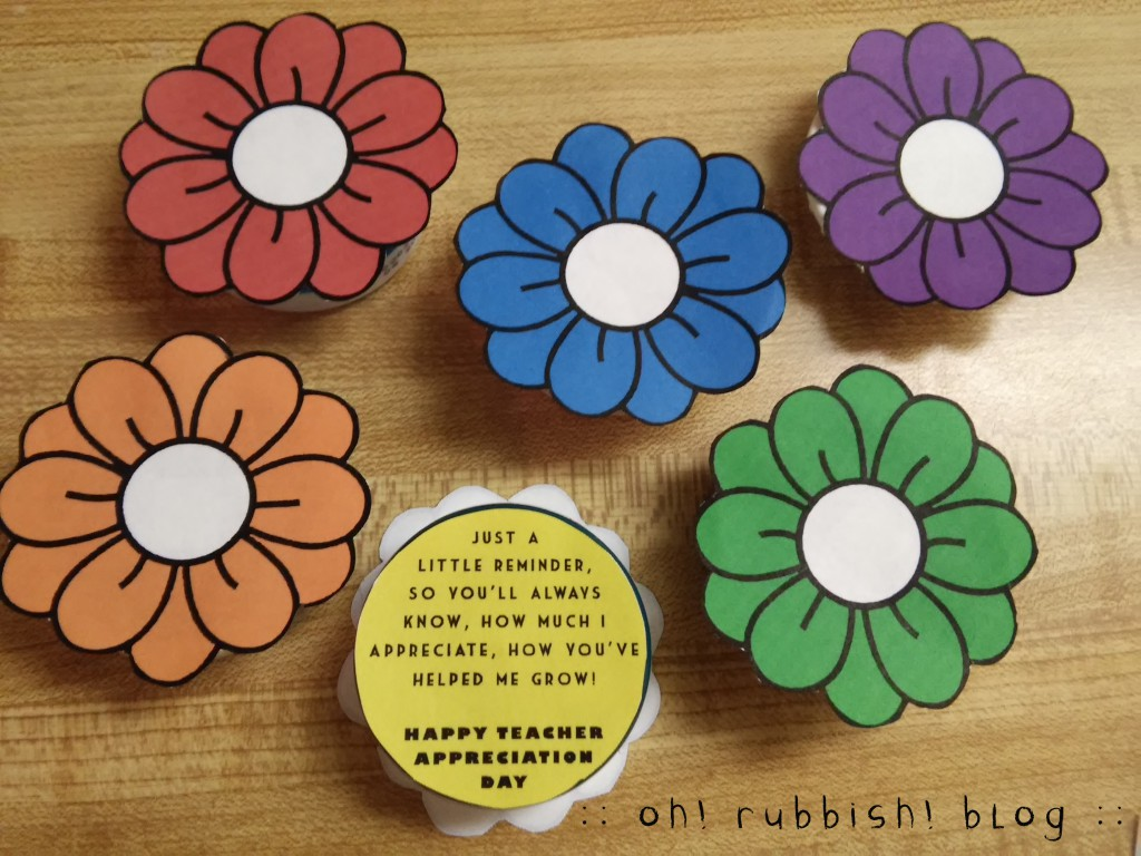 Teacher Favors Mint Flowers 2