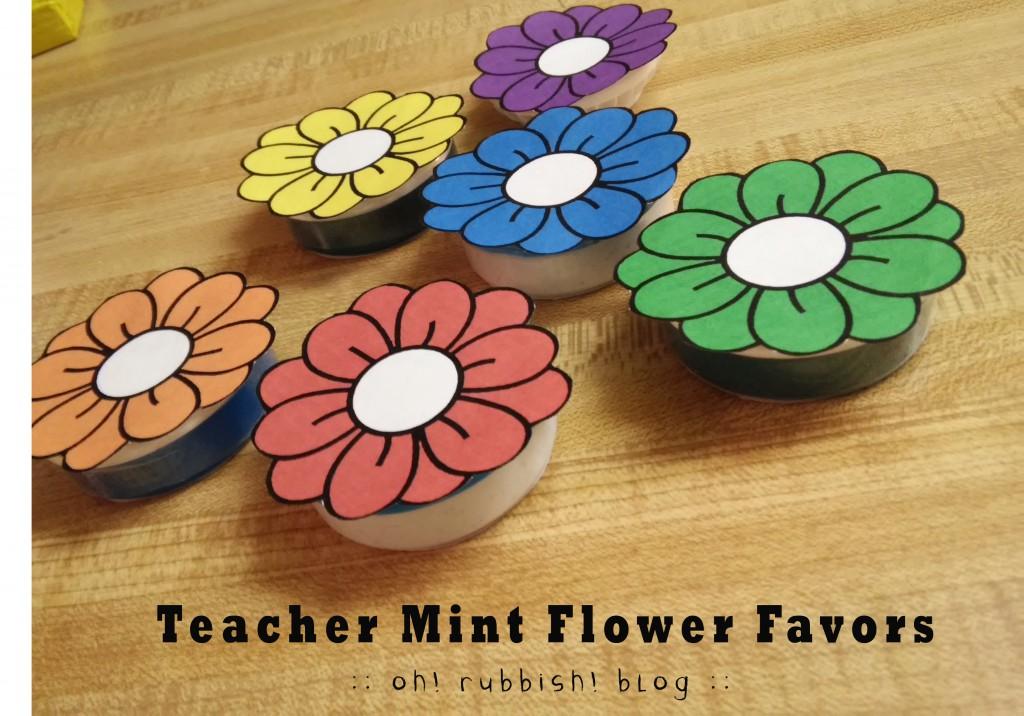 Teacher Favors Mint Flowers 3