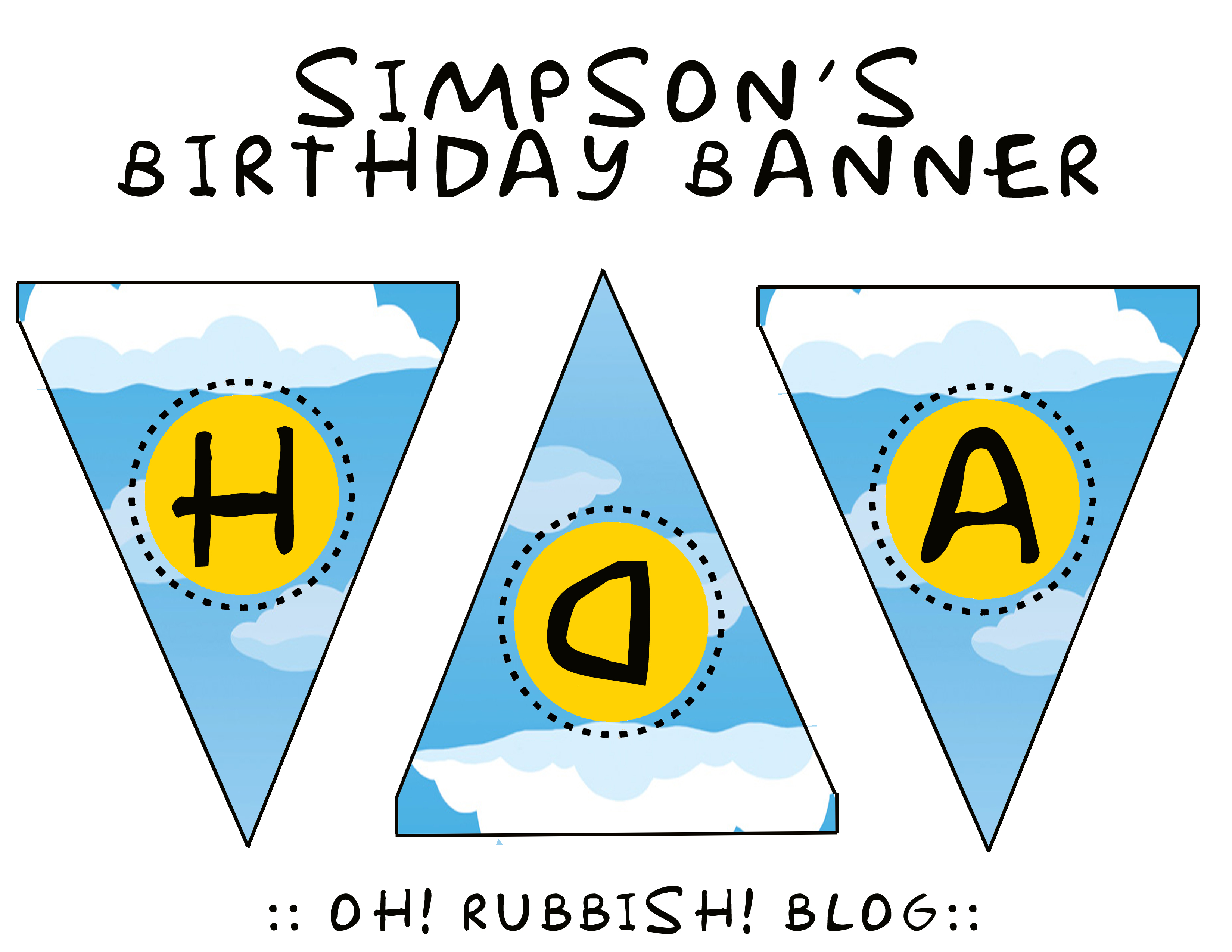 Simpsons Birthday Party Ideas Birthday Banner Duff Beer