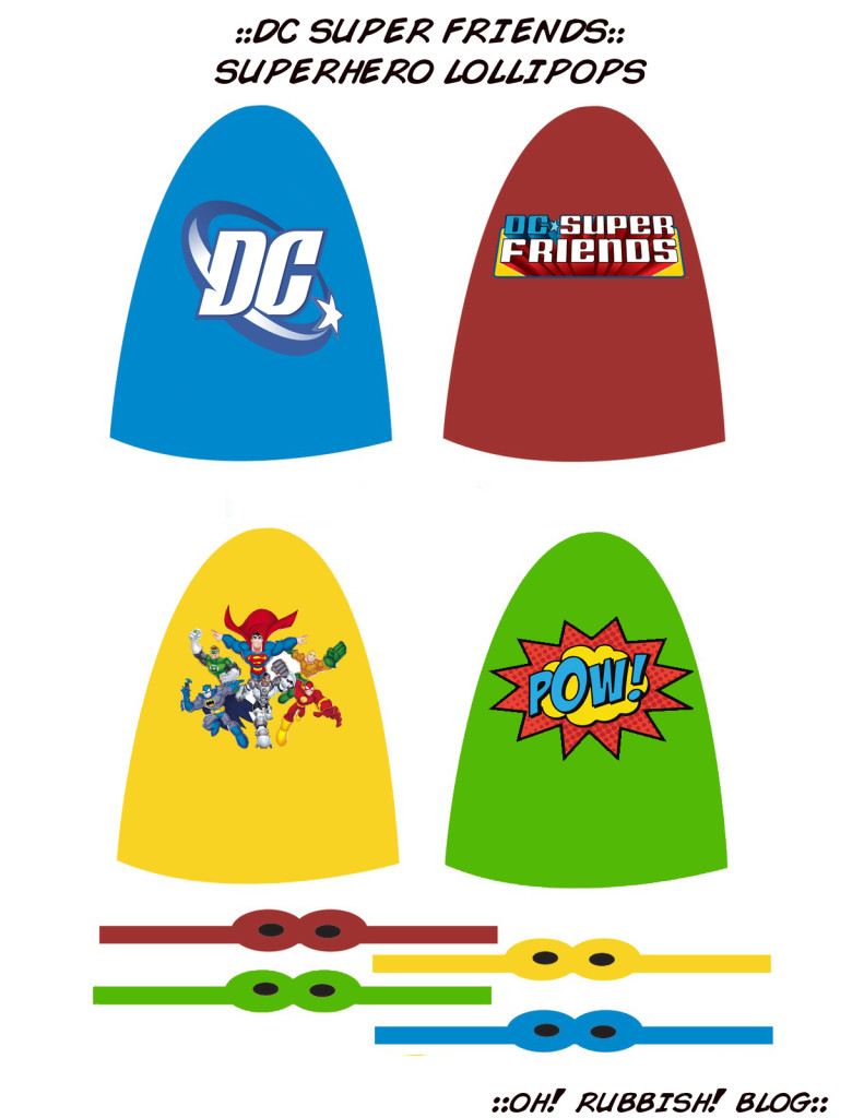 DC SUPER FRIENDS LOLLIPOPS by oh! rubbish! blog