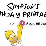 Simpsons Birthday Printables by oh! rubbish! blog