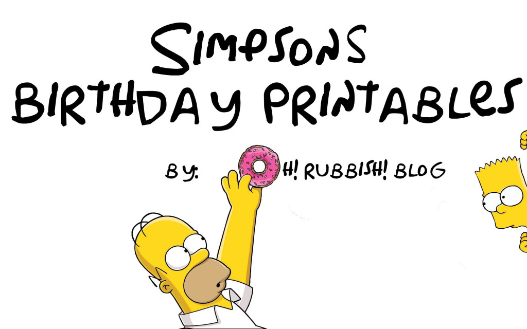 Simpsons Birthday Party Ideas by oh rubbish blog
