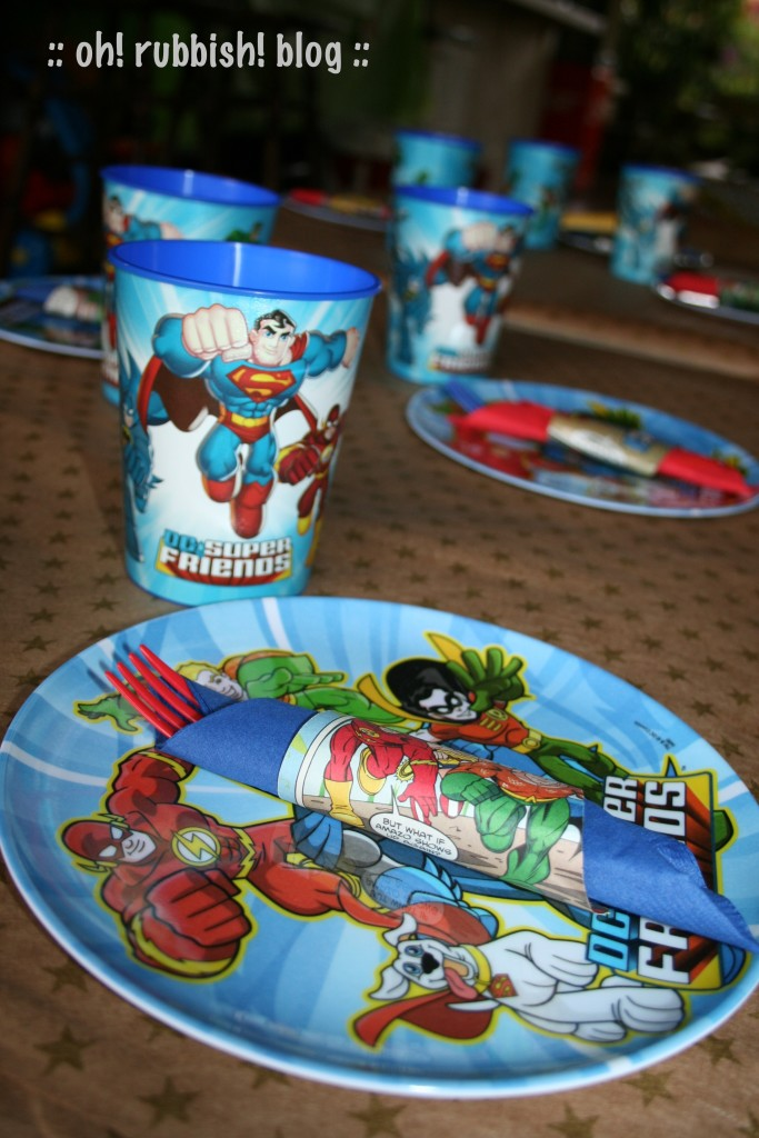 DC Super Friends Birthday Party Games & Activities by oh! rubbish! blog