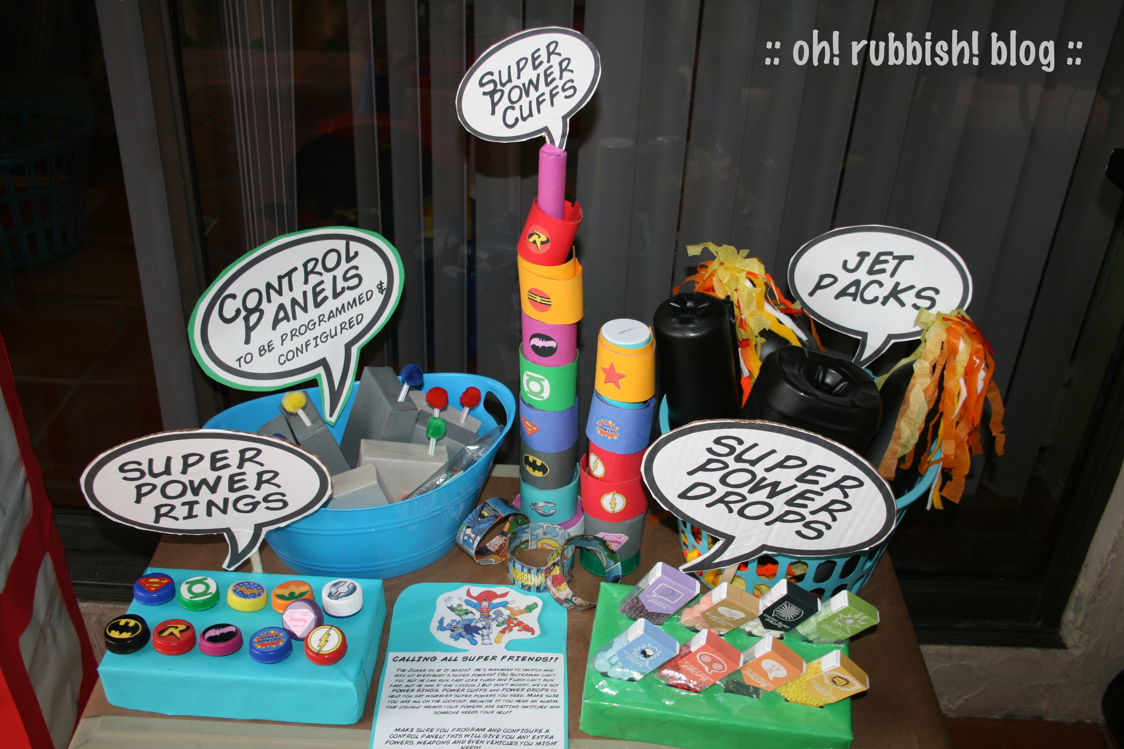 DC Super Friends Birthday Party Games Activities By Oh Rubbish Blog