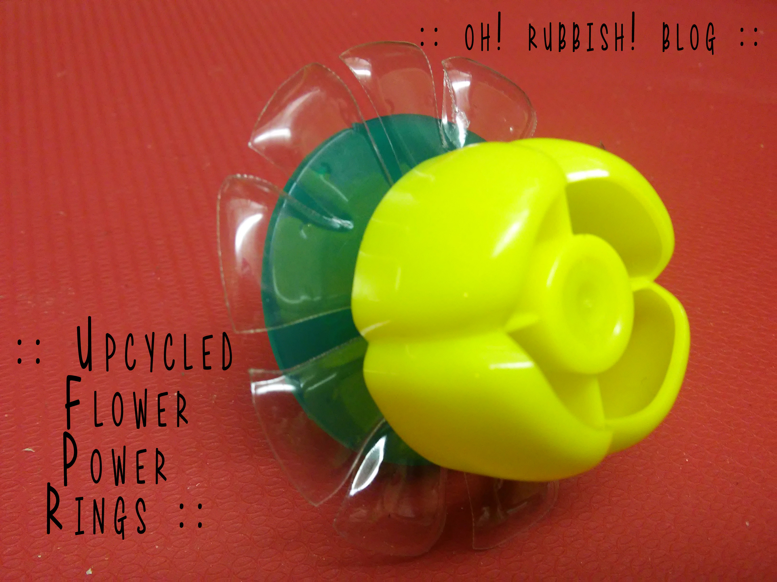Upcycled Flower Power Rings by oh! rubbish! blog